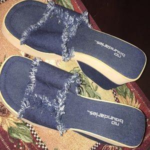 Platform no boundaries blue jean Sandles